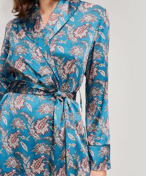 Leontine Silk Satin Wrap Jacket