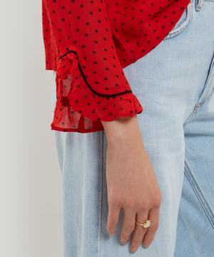 Mullen Georgette Ruffle Shirt