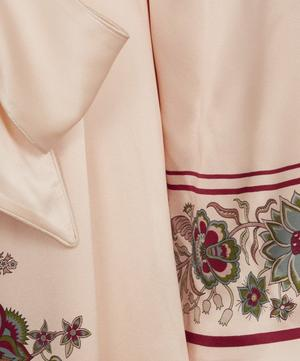 Tree of Life Silk Satin Long Robe