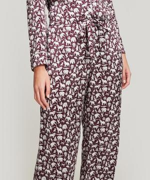 Midnight Mischief Silk Satin Long Pyjama Set