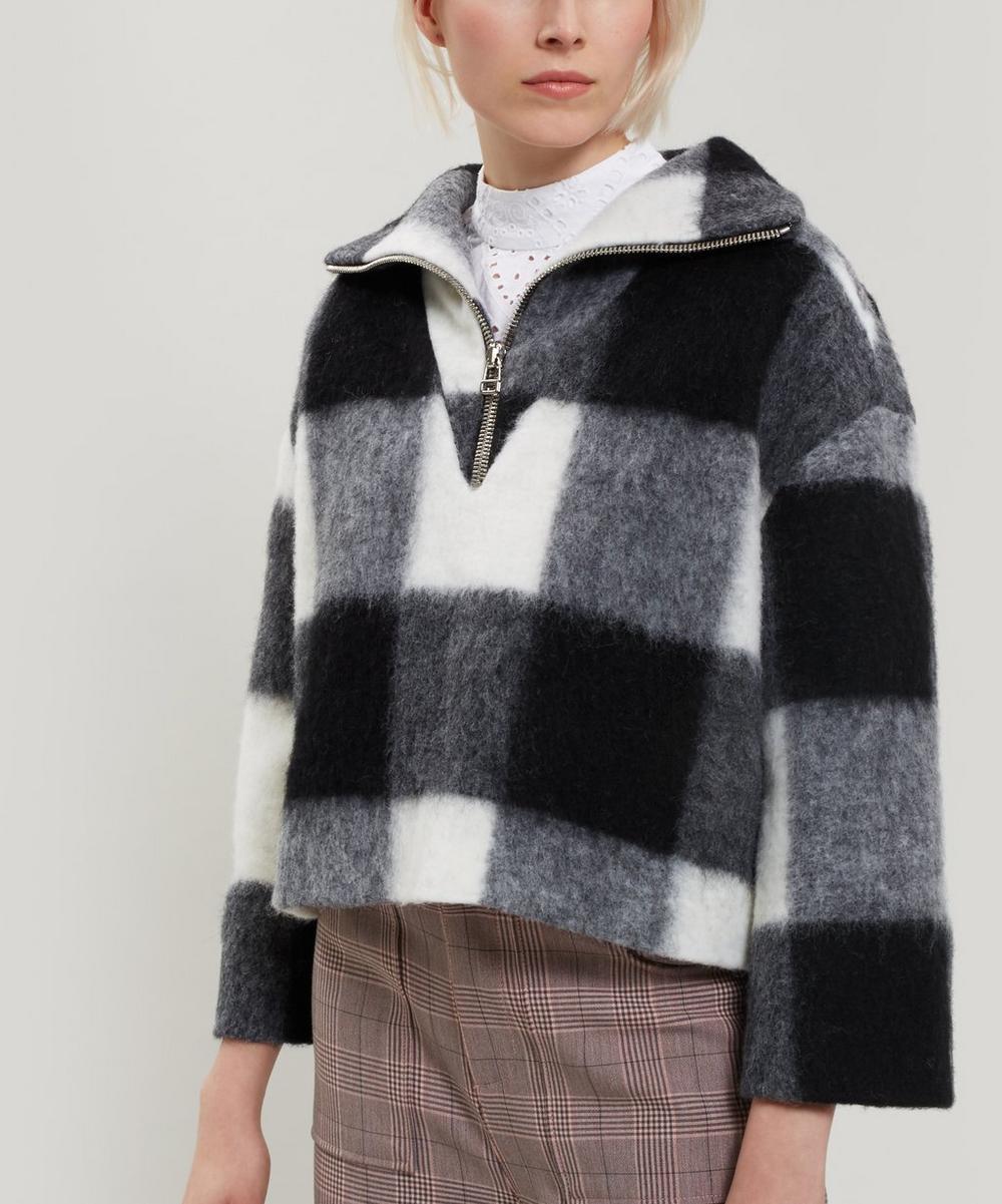 Mckinney Check Wool-Blend Half-Zip Sweater