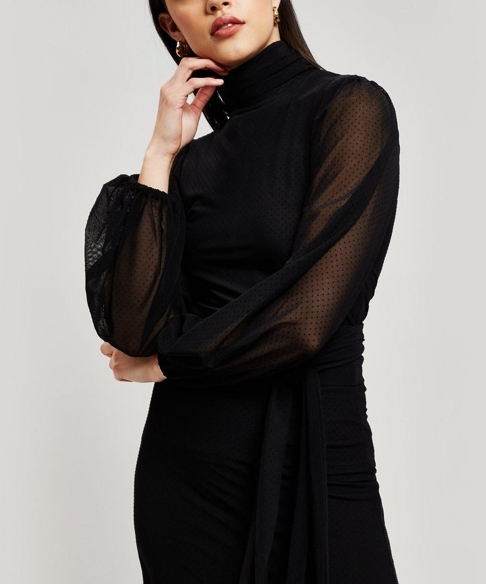 Addison High Neck Top in Black