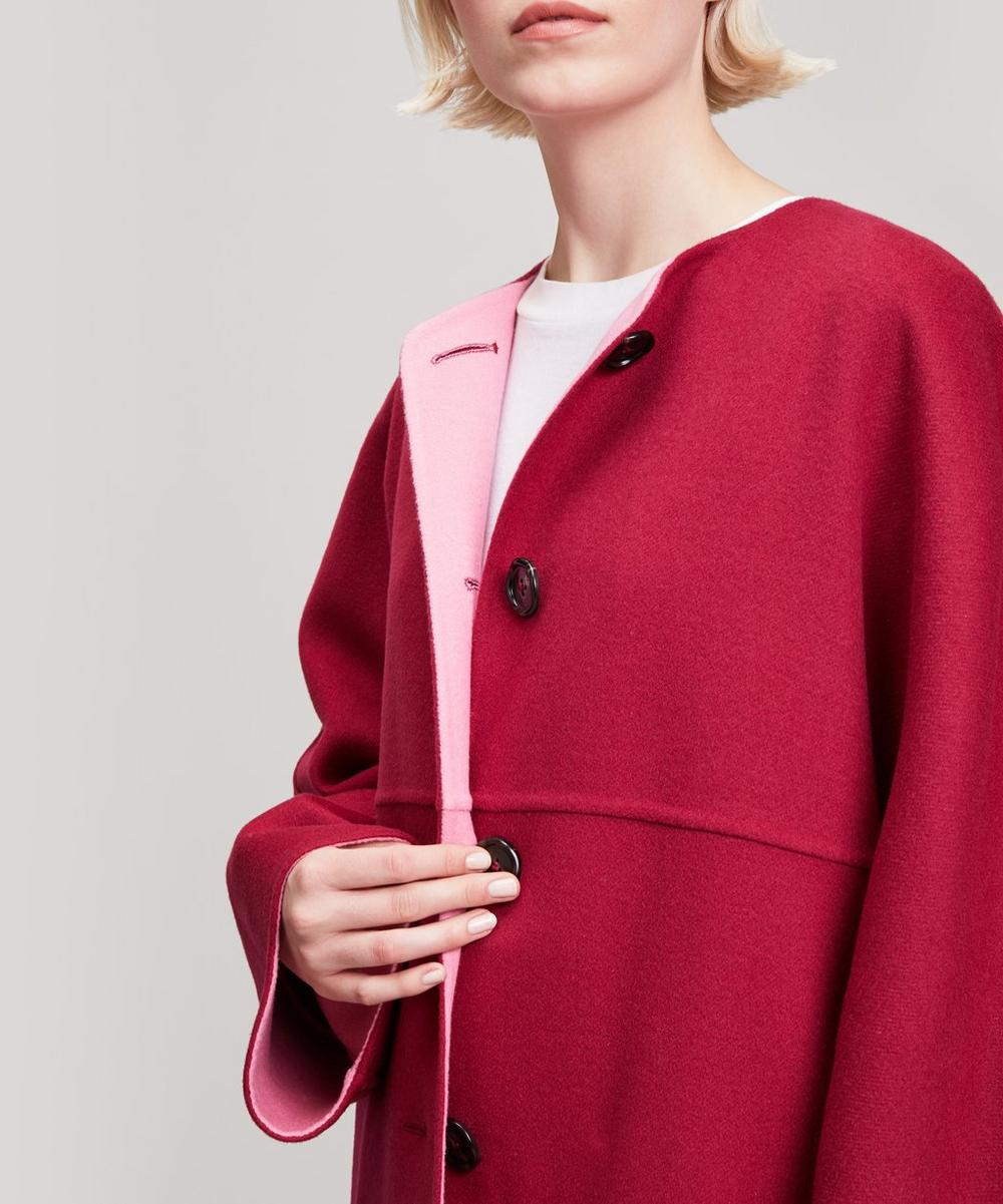 Reversible Wool and Cashmere Duster Coat