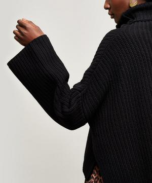 Cropped Wool Roll Neck Jumper