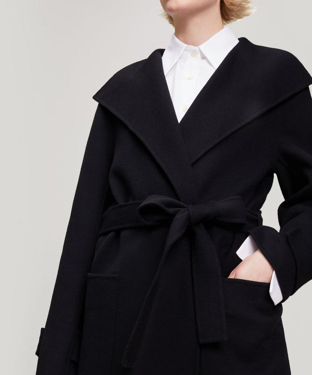 Lista Wool-Blend Wrap Jacket