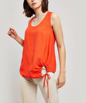 Drawstring Cut Out Top