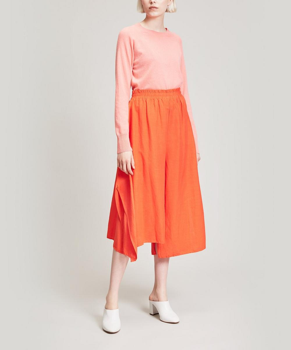 Asymmetric Wide Leg Trousers
