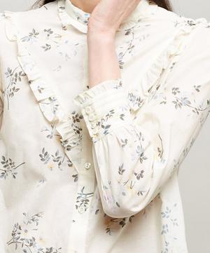 Polly Ruffle Cotton Shirt