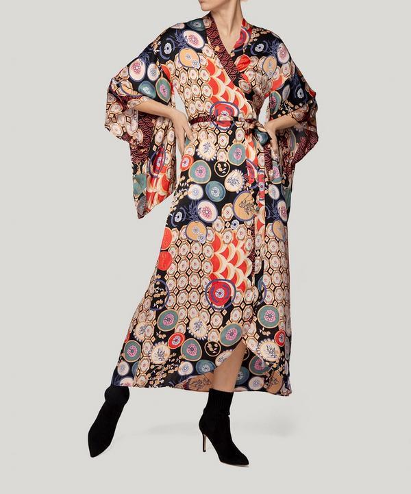 Patchwork Kimono Wrap Dress