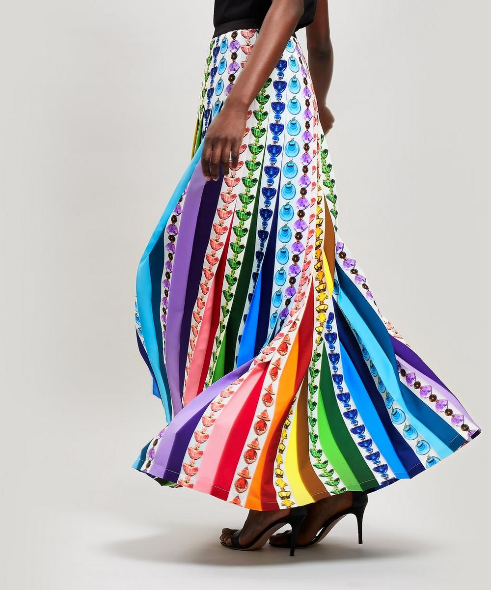 Mary Katrantzou Skirts BOTTLE PRINT RAINBOW SKIRT