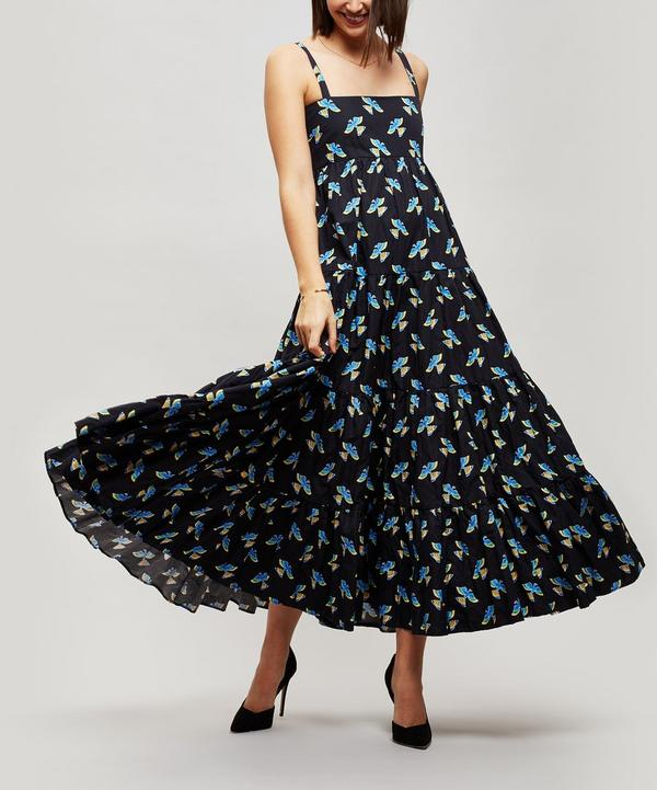 Bouncy Tiered Maxi-Dress