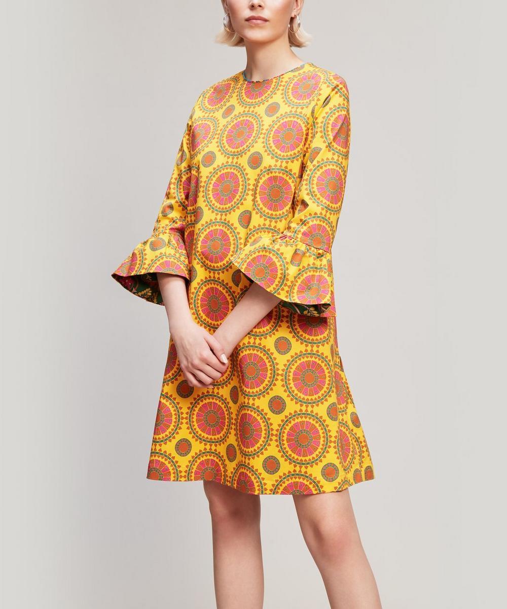 Ruffle Cuff Mini-Dress