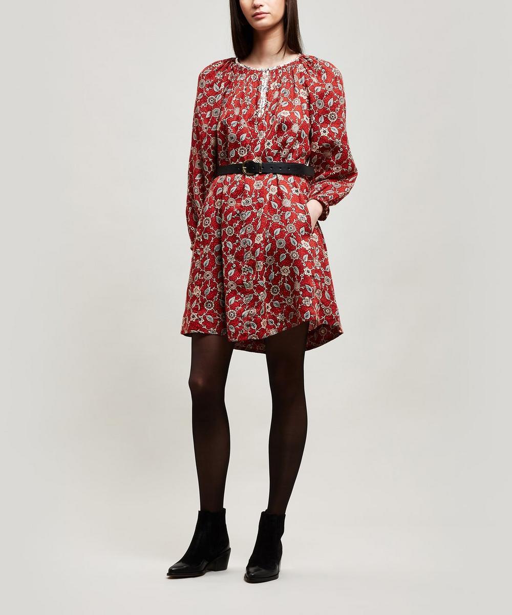 Tockya Printed Linen Oversize Dress