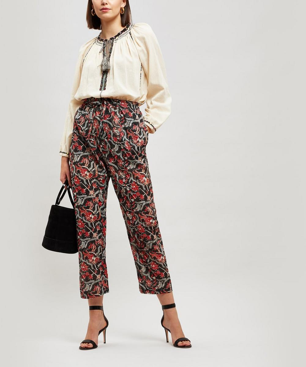 Enda Printed Cotton Voile Trousers