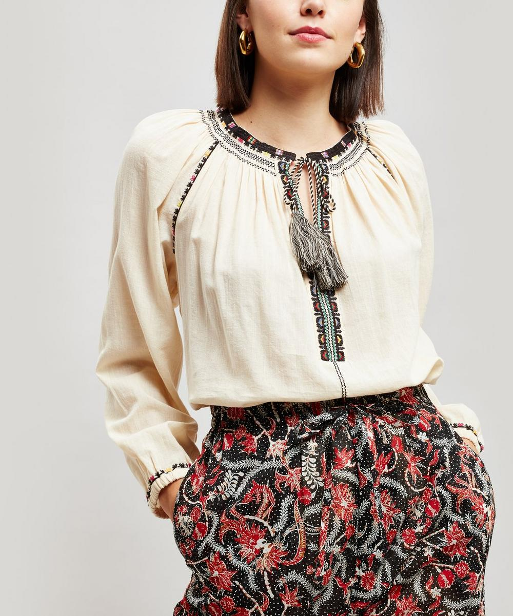 a6d8c64970966 Rina Embroidered Cotton Gauze Top