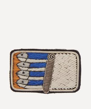 Embroidered Sardines Brooch