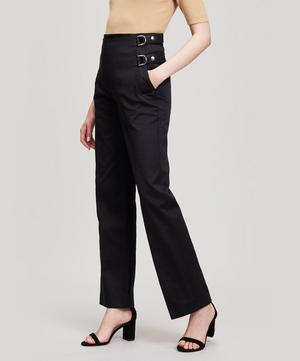 Buckled Wide-Leg Trousers