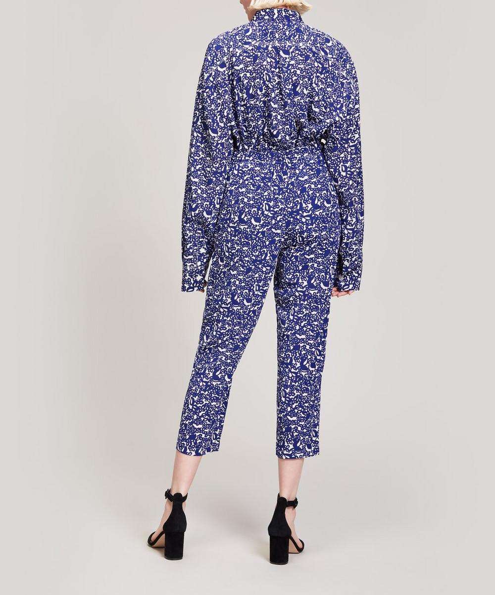 Squiggle Print Cropped Trousers