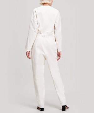 Glitch Belted Cotton Jumpsuit