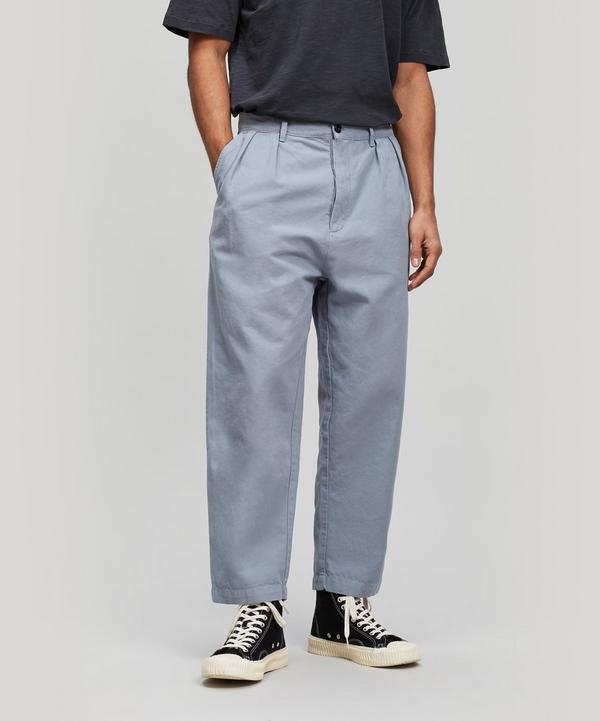 Double Pleat Trousers ... 61d875ce0