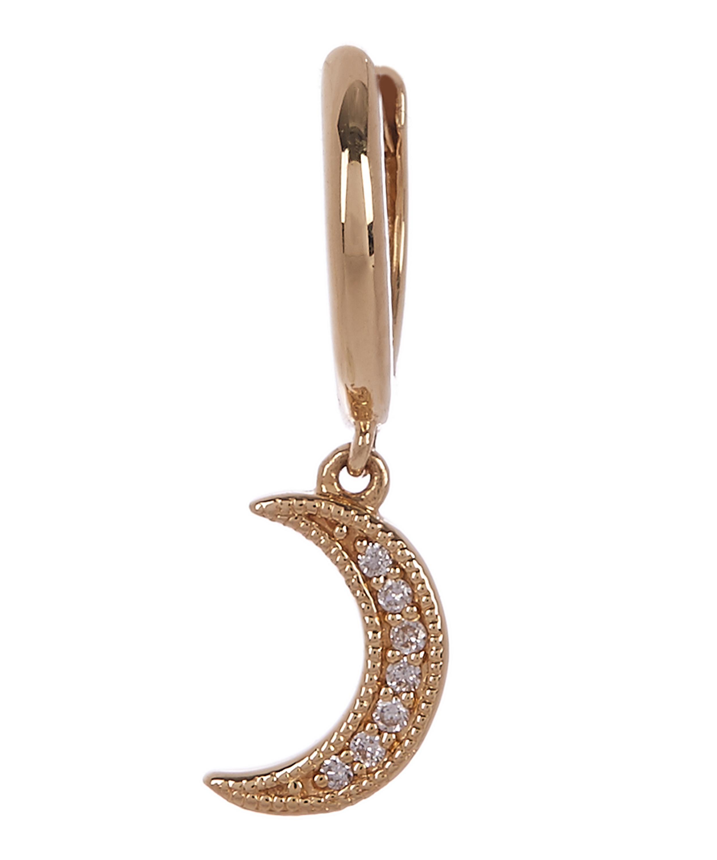 9e1b65c6a Gold Crescent Moon Hoop Earring