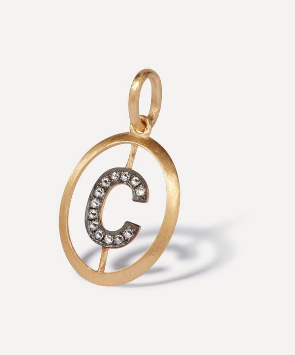 Annoushka - 18ct Gold C Diamond Initial Pendant