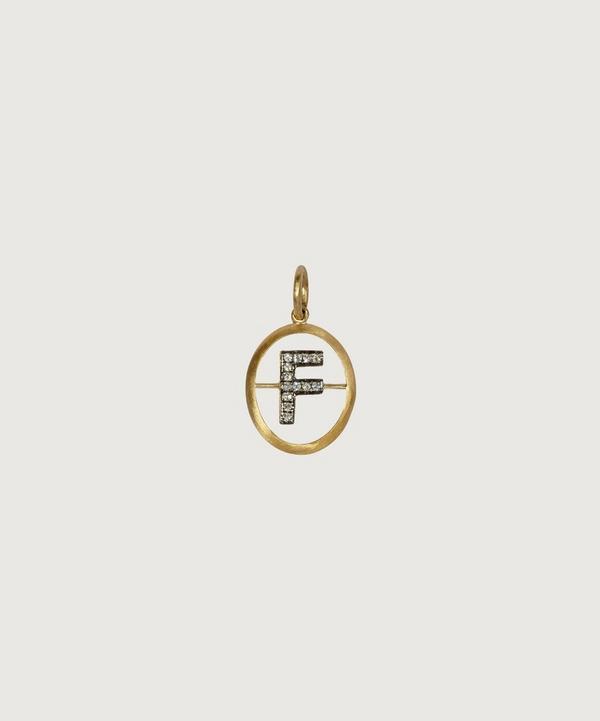 Annoushka - 18ct Gold F Diamond Initial Pendant