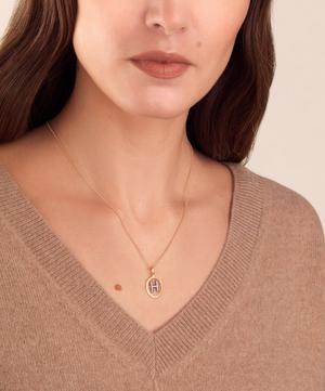 18ct Gold H Diamond Initial Pendant