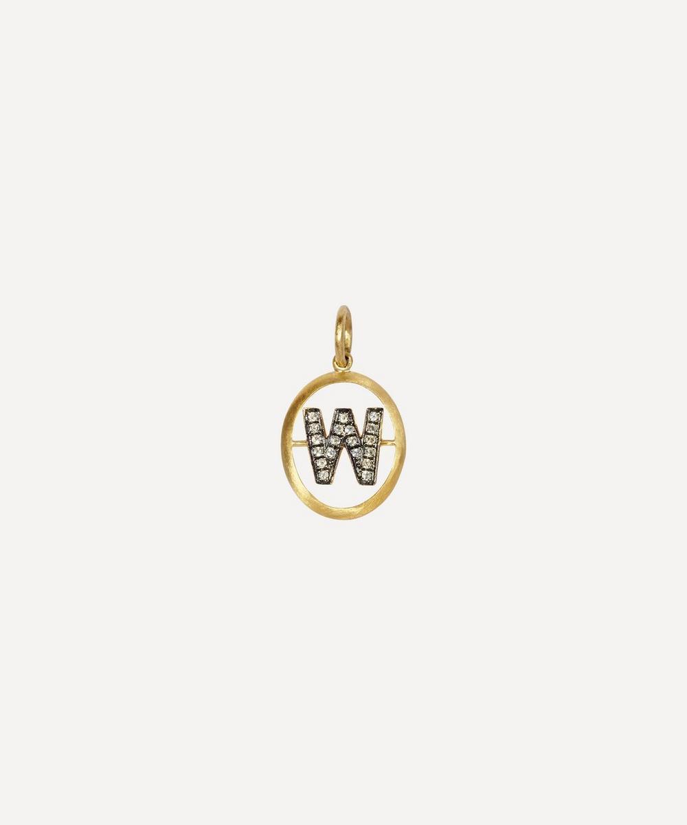 18ct Gold W Diamond Initial Pendant