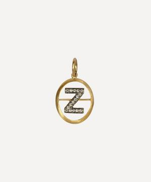 18ct Gold Z Diamond Initial Pendant
