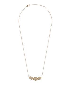 Gold Orbit Halo Moonstone and Diamond Necklace