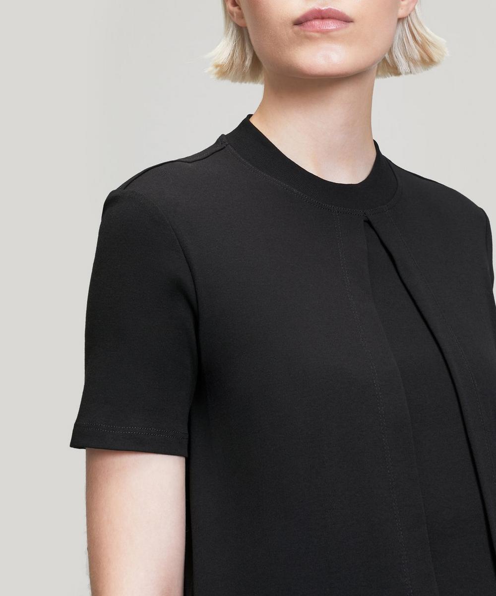 Long Front Split Cotton T-Shirt