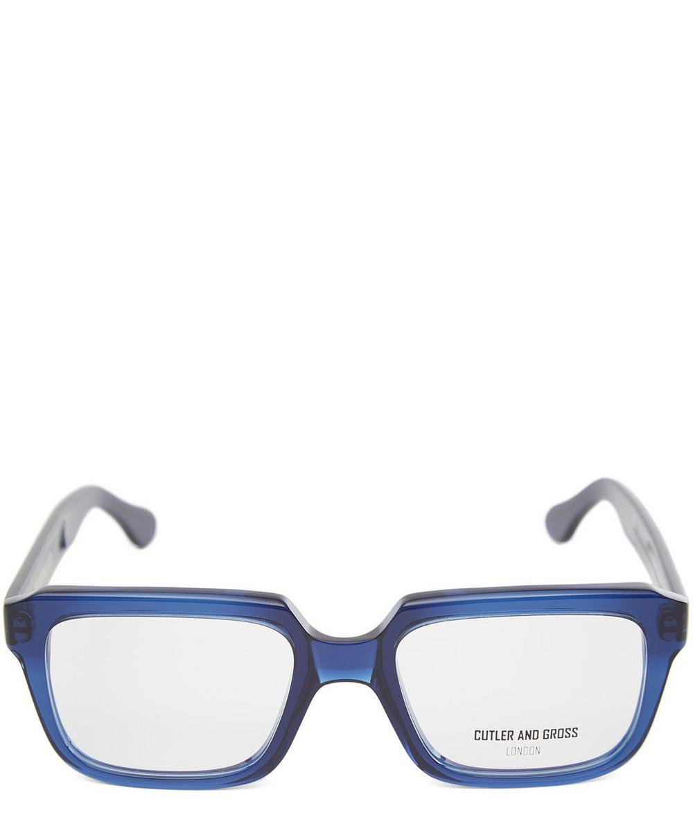 Airforce Blue Chunky Glasses