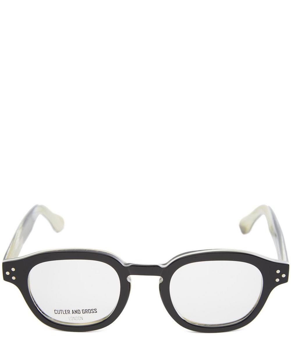 Chunky Round Black Horn Glasses