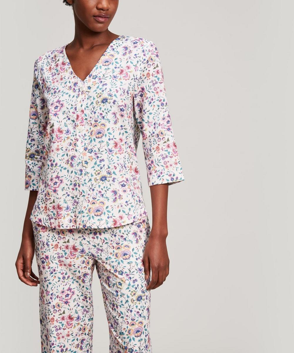 Delilah Brushed Cotton Long Pyjama Set