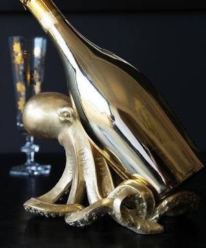 Gold Octopus Wine Bottle Holder