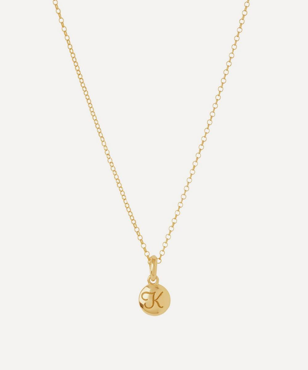 Gold-Plated Personalised Letter K Pendant Necklace