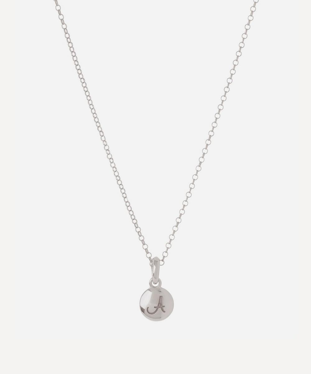 Silver Personalised Letter A Pendant Necklace
