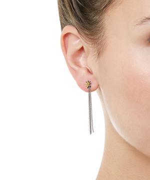 Oxidised Silver Astral Path Diamond Drop Earrings