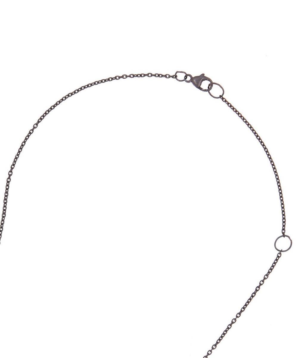 Oxidised Silver Ouroboros Diamond Necklace