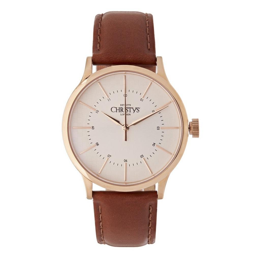 Classic Compton Leather Strap Watch