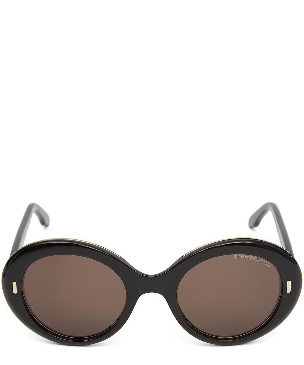 Oversized Oval Retro Sunglasses
