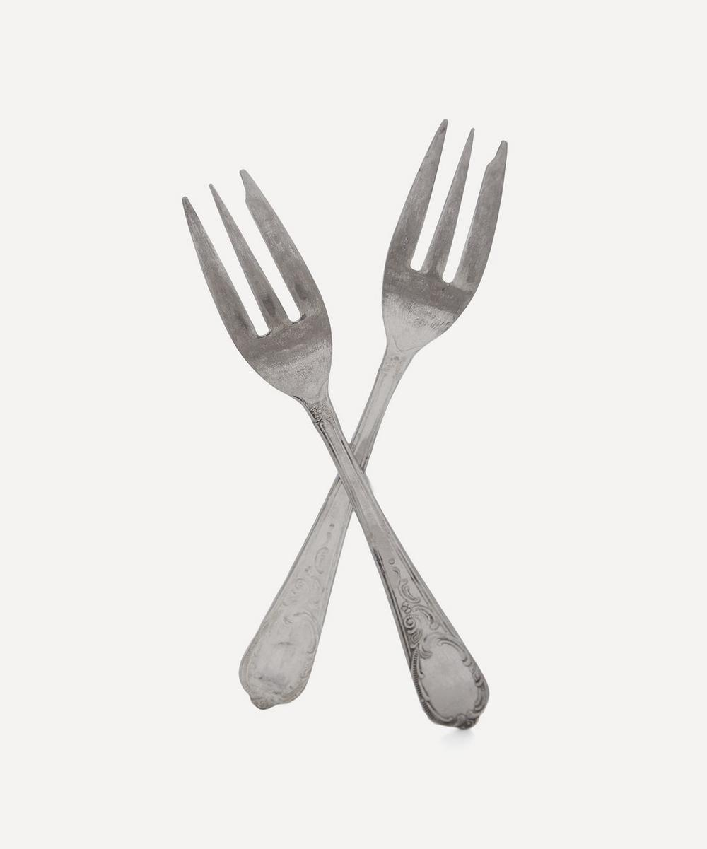Mr & Mrs Cake Fork Set of Two