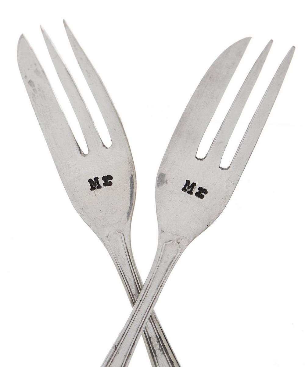 Mr & Mr Cake Fork Set of Two