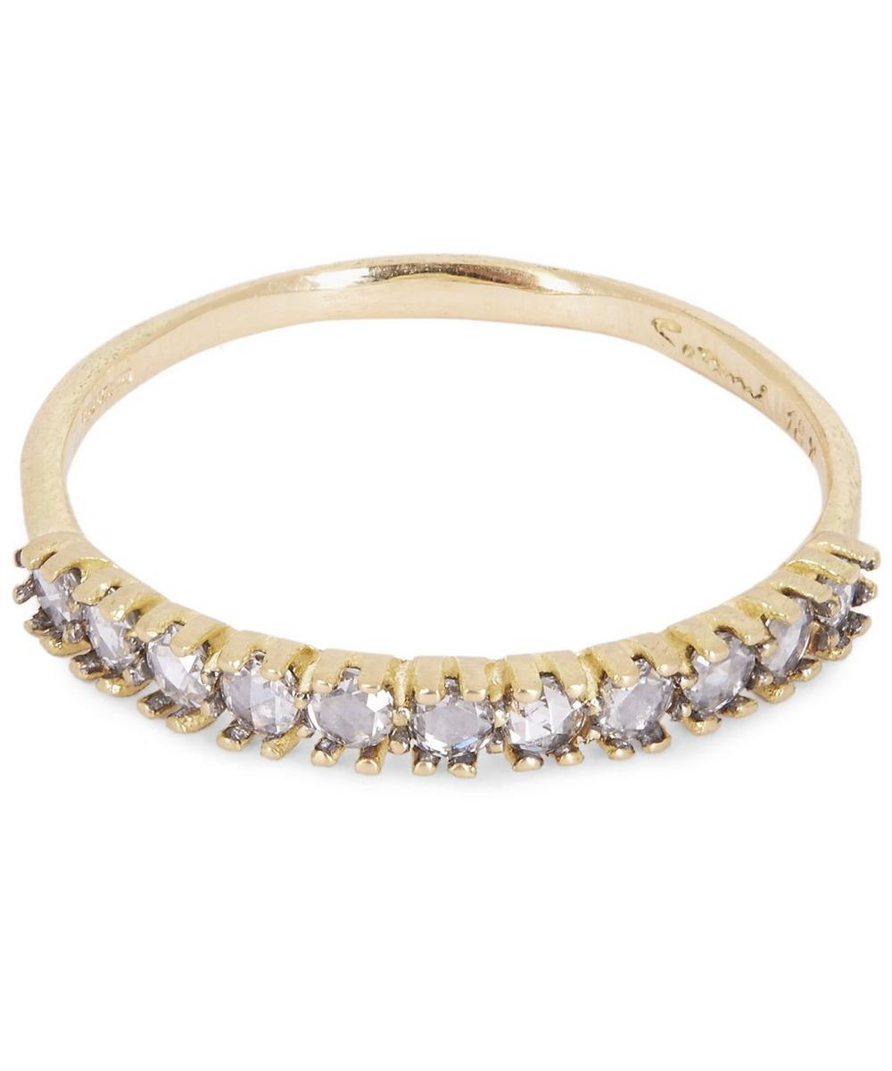 Gold Diamond Half Eternity Ring