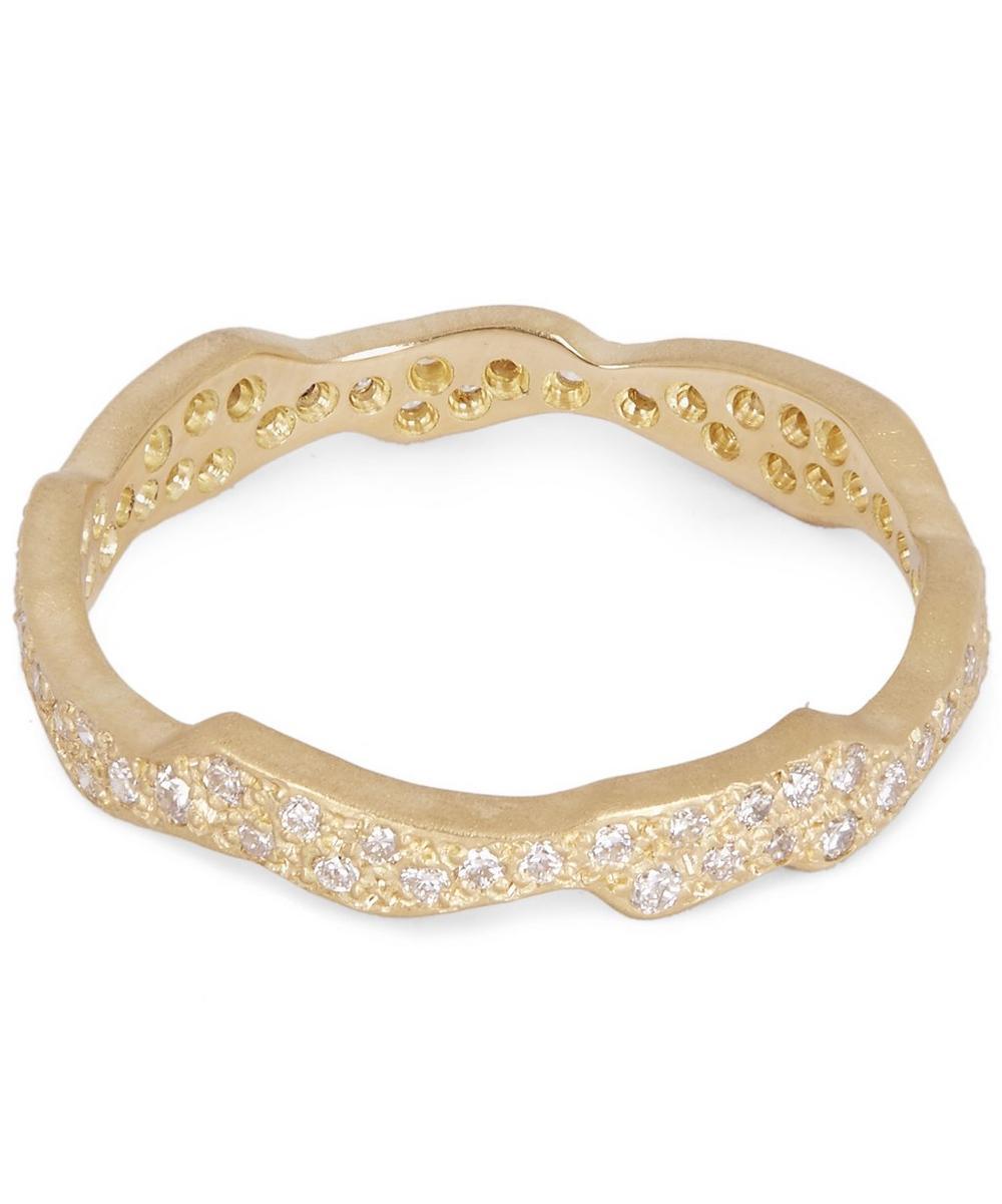 Gold White Diamond Milky Way Ring