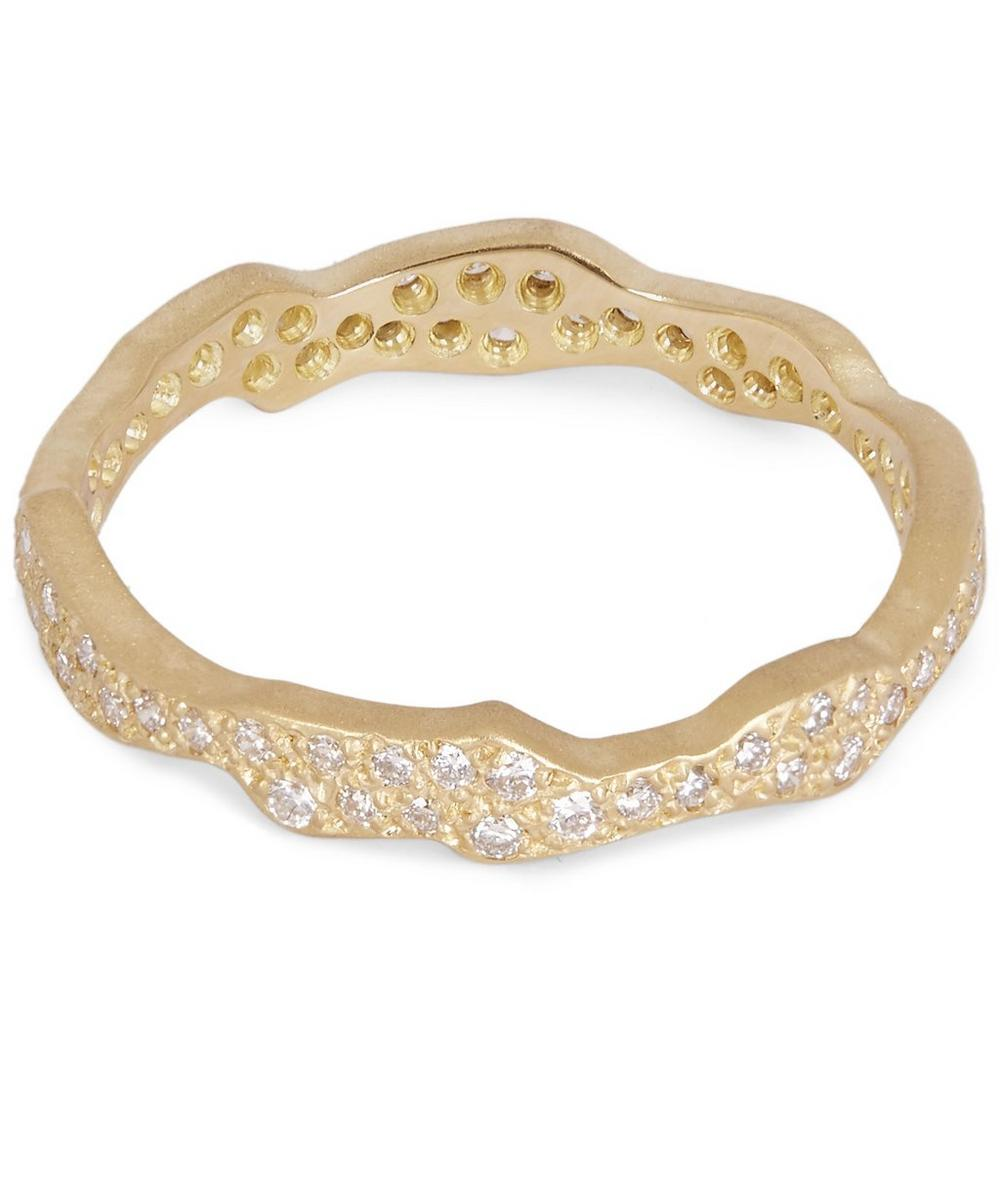 Gold White Diamond Milky Way Ring