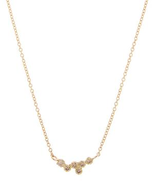Gold Hydra Brown Diamond Necklace