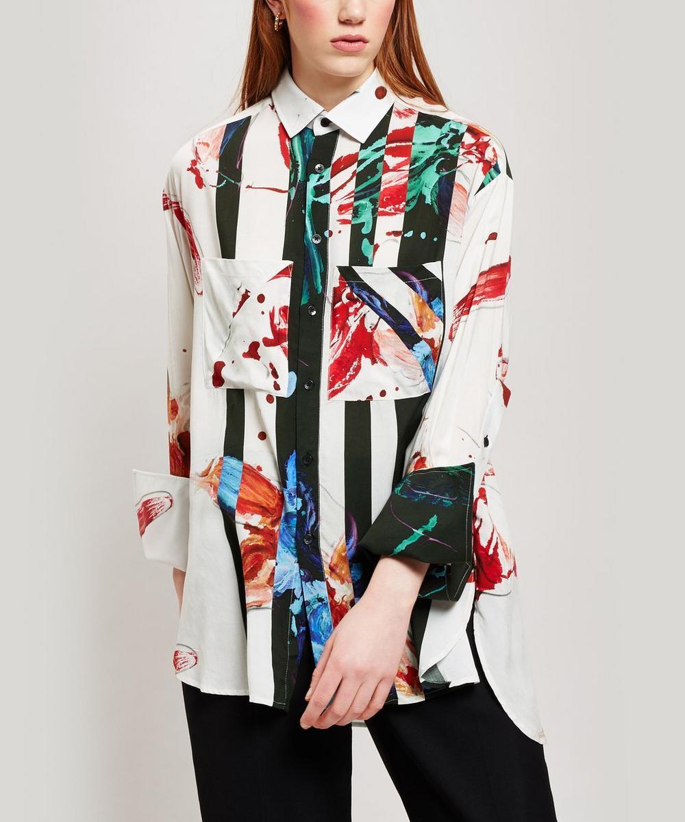 Paint Print Boyfriend Shirt