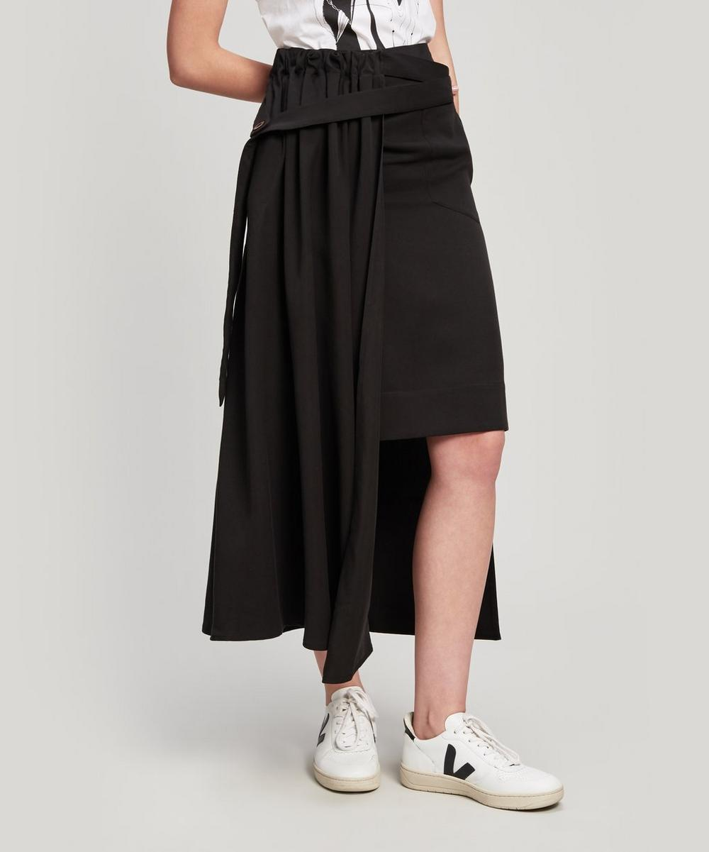 Thrill Linen-Blend Skirt